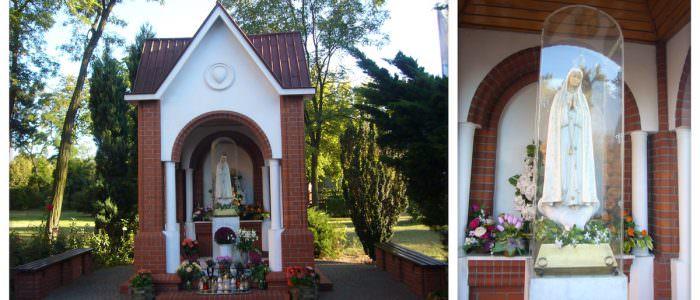 Kapliczka naterenie gotyckiego kościoła