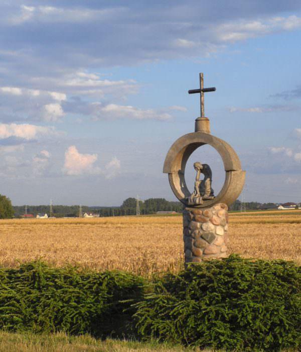 Kapliczka koło Kurowic